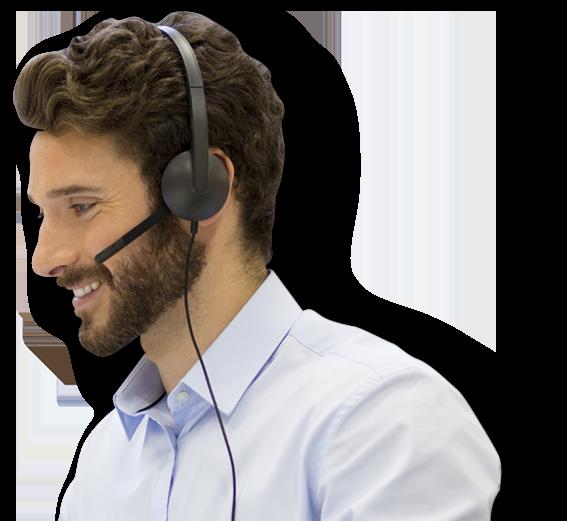 man-headset